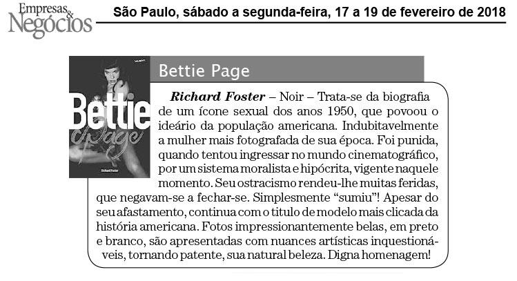 Empresas e Negócios  São Paulo – 17/2/2018