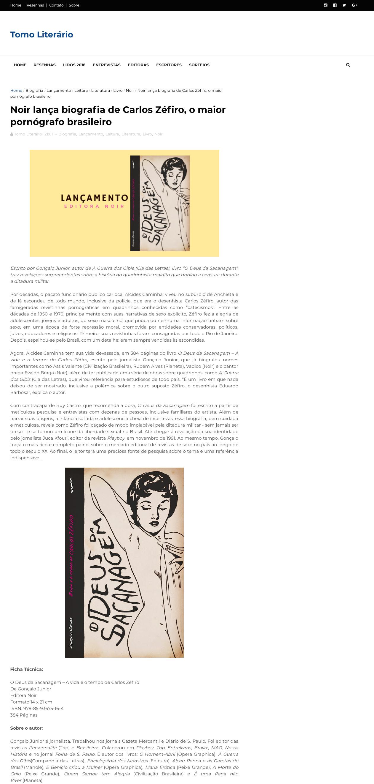 Tomo Literário  São Paulo –18/11/2018