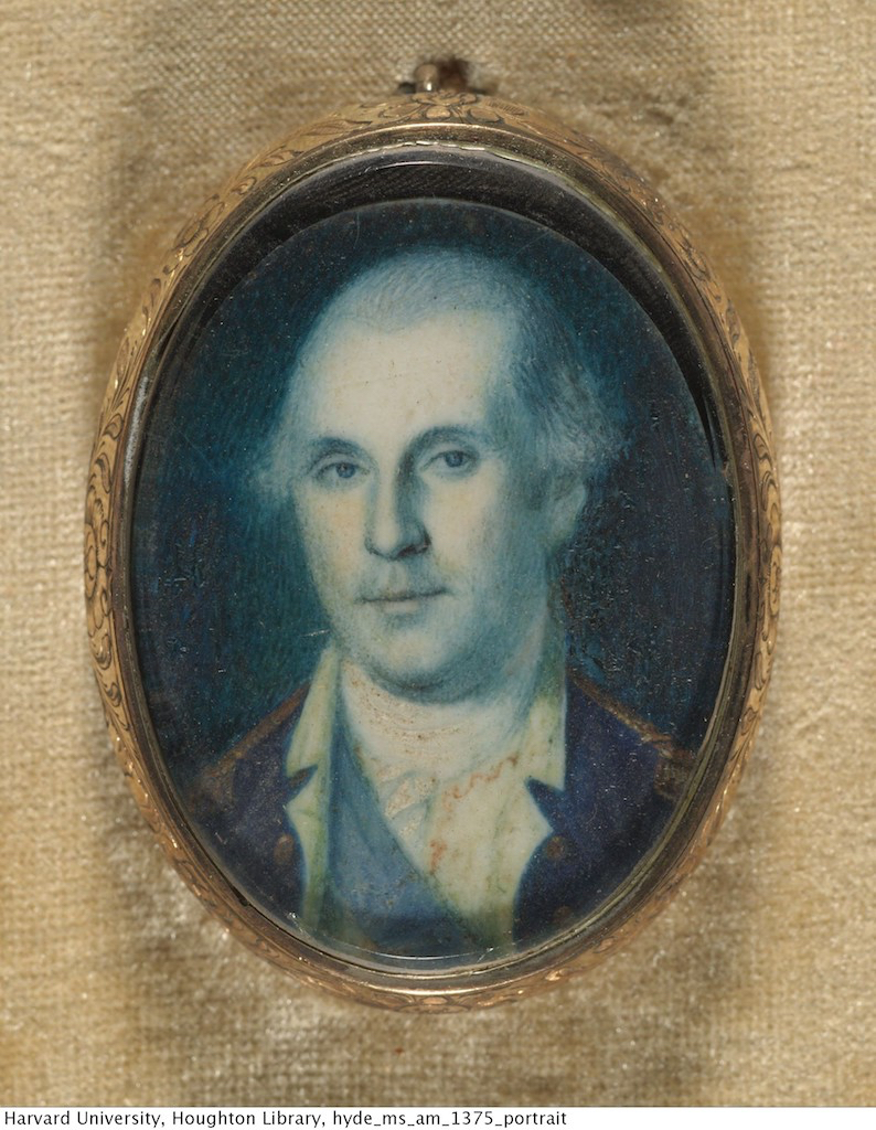 Miniature portrait of George Washington. Circa 1775