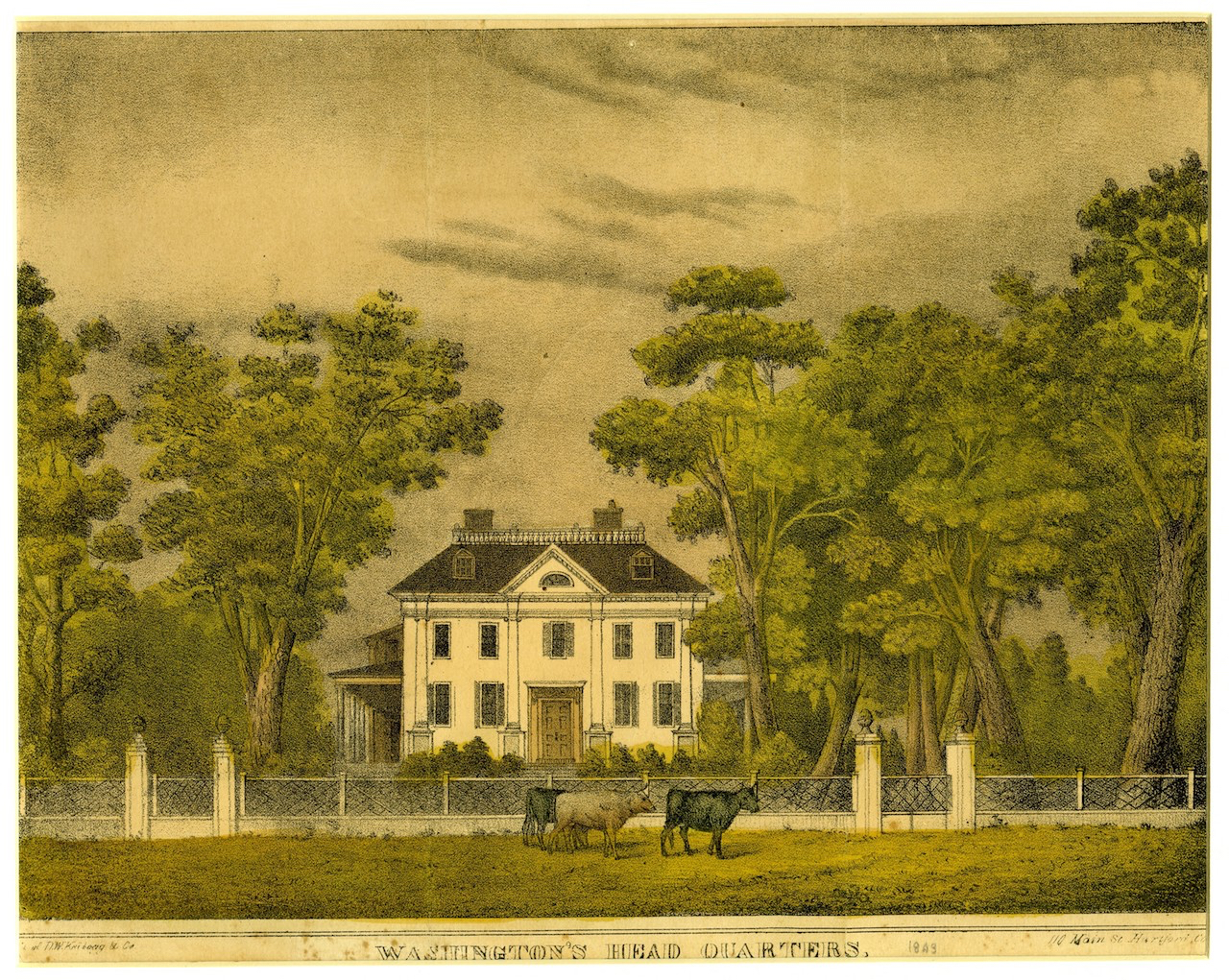Color lithograph of Vassall-Craigie-Longfellow House
