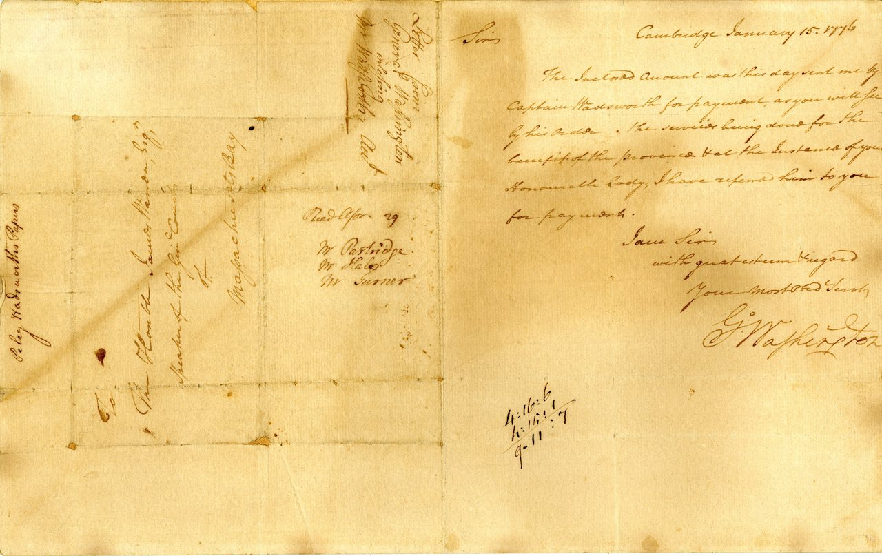 George Washington to Samuel Warden,