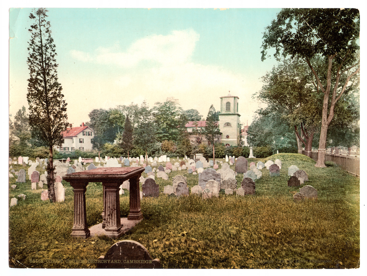 Christ Church, view from Old Burying Ground, 1905 postcard.