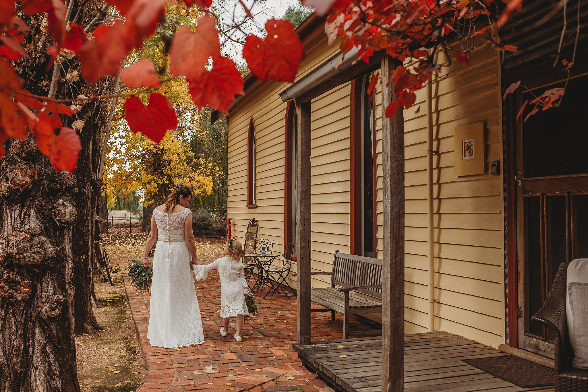 bride at the churches orrvale