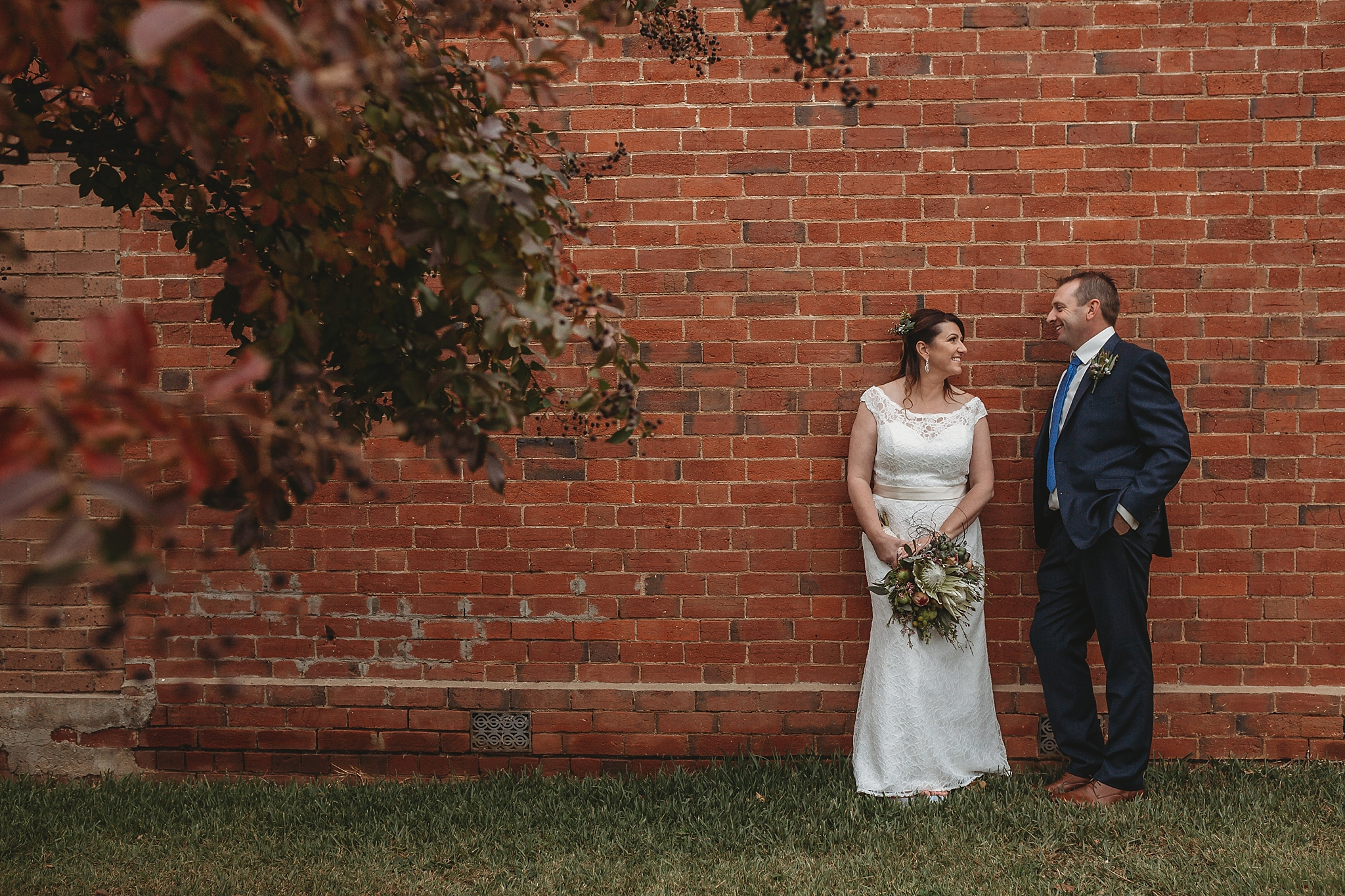 dookie bride and groom in the main street