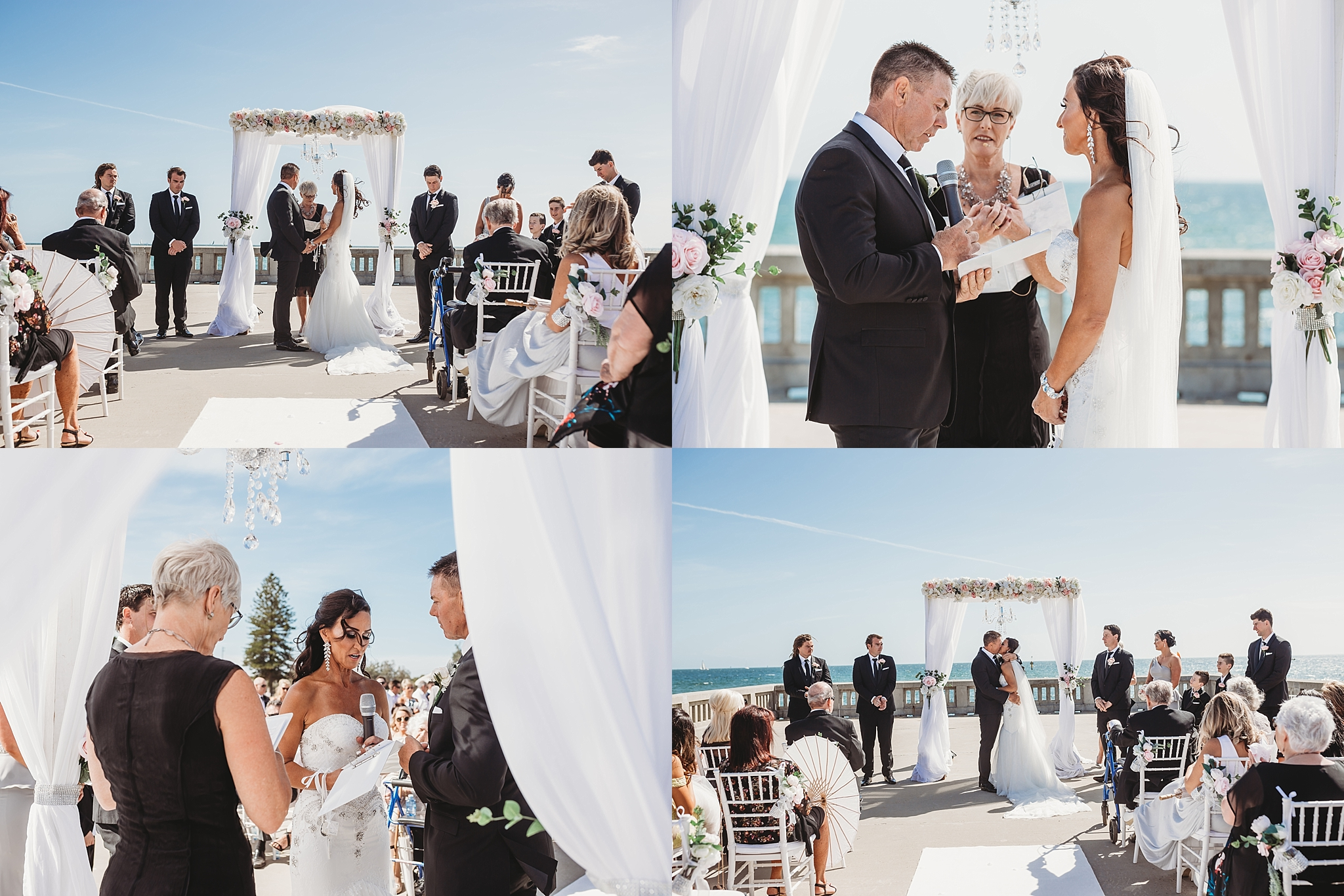 wedding ceremony at brighton pier