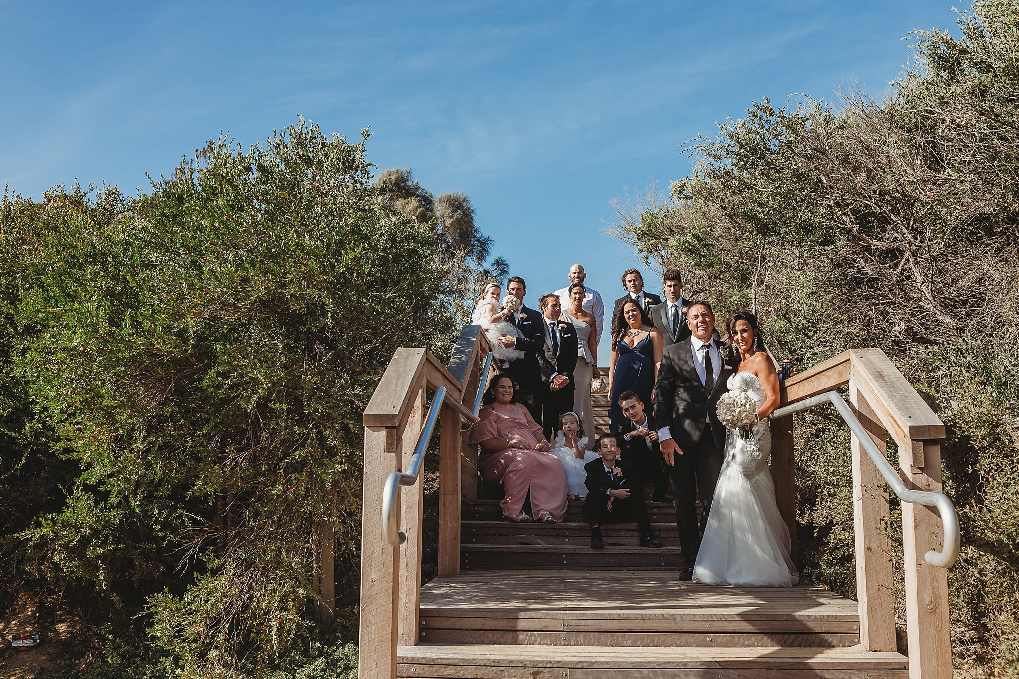 bridal party at brighton beach