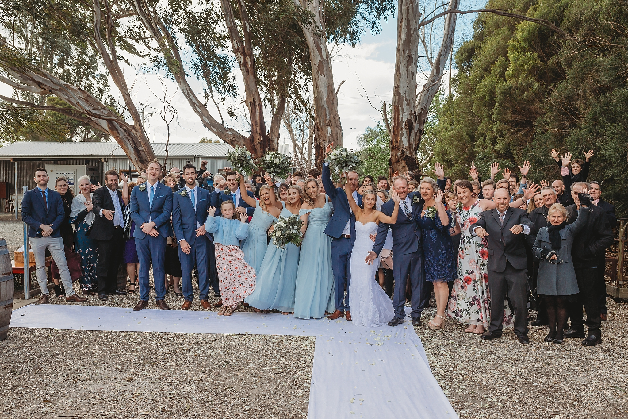 group wedding guests