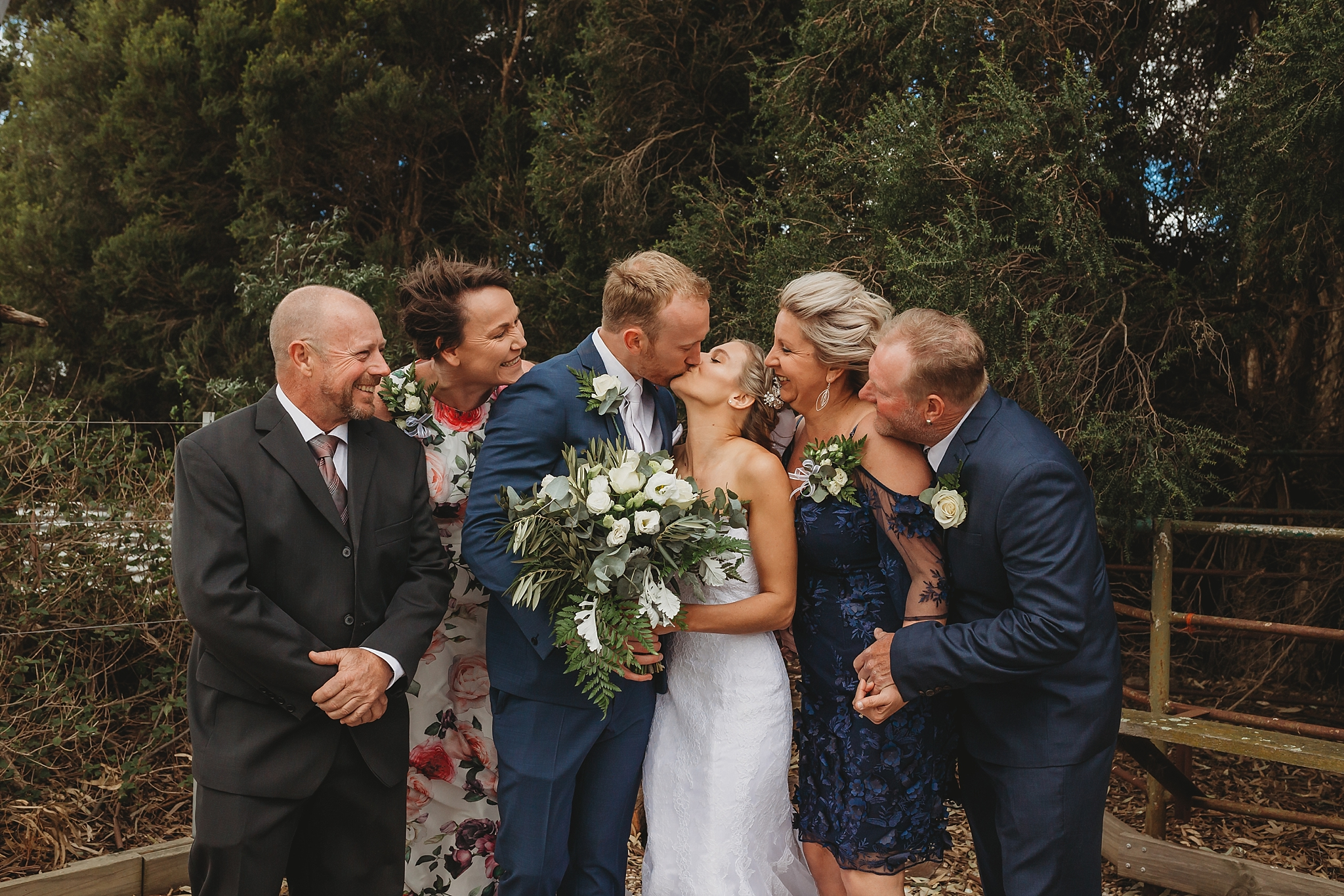 parents with bride and groom