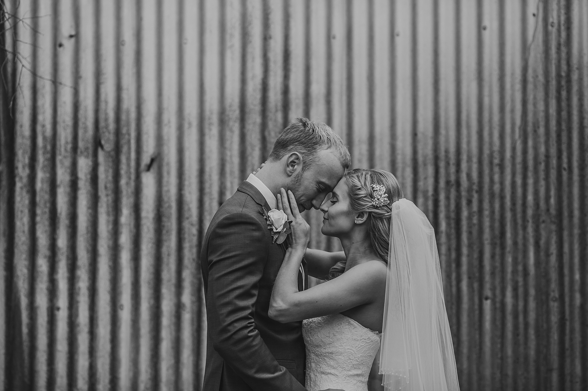 bride and groom love pose