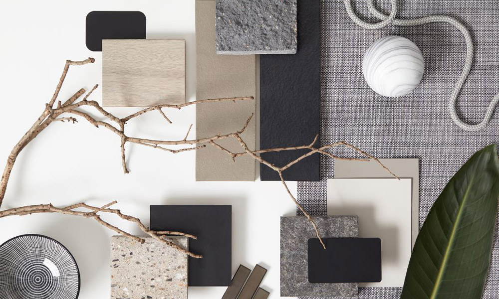 NATURAL COLOURS + Materials with textures - Combining natural materials, colours and organic shapes creates a comfortable space to be in.