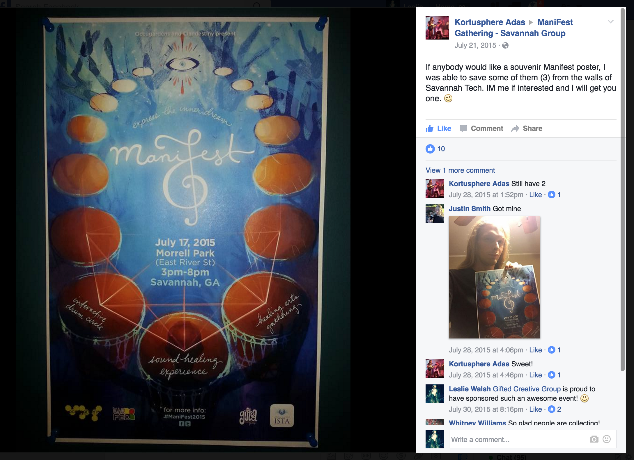 Souvenir ManiFest poster post