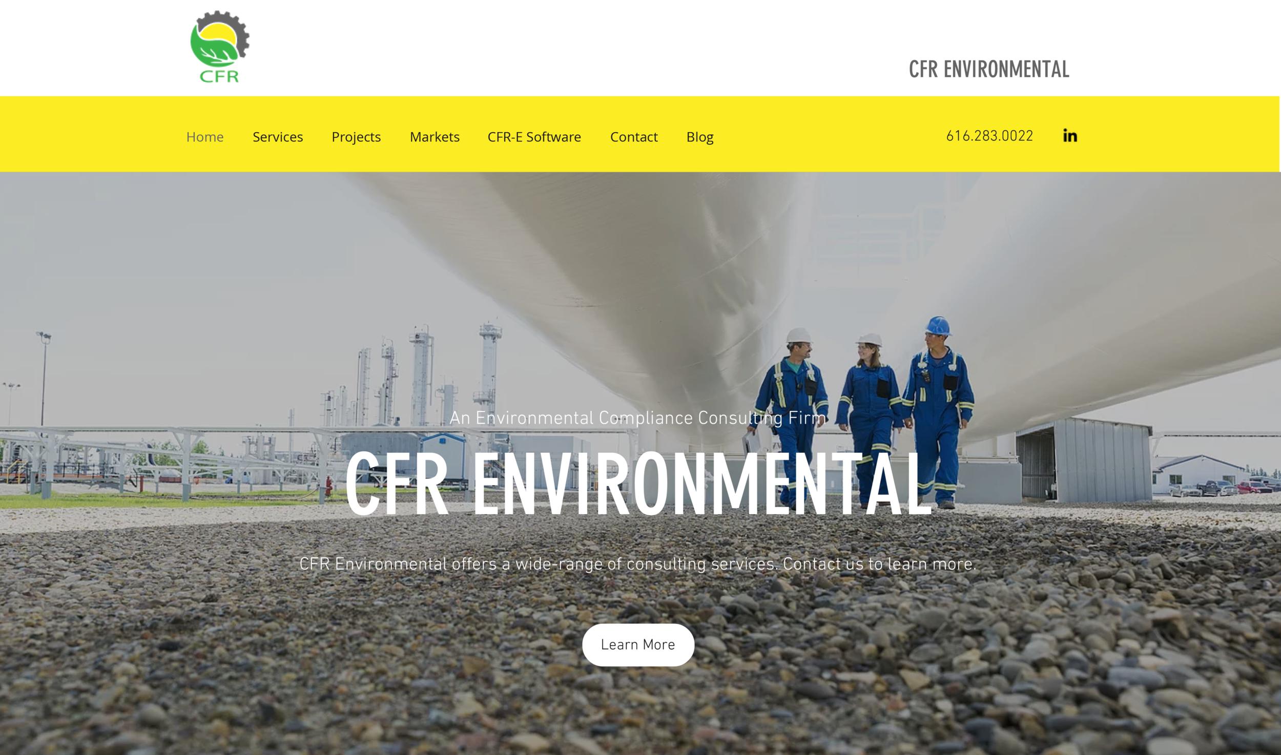 CFR Environmental     Website Design, Content, SEM, and SEO