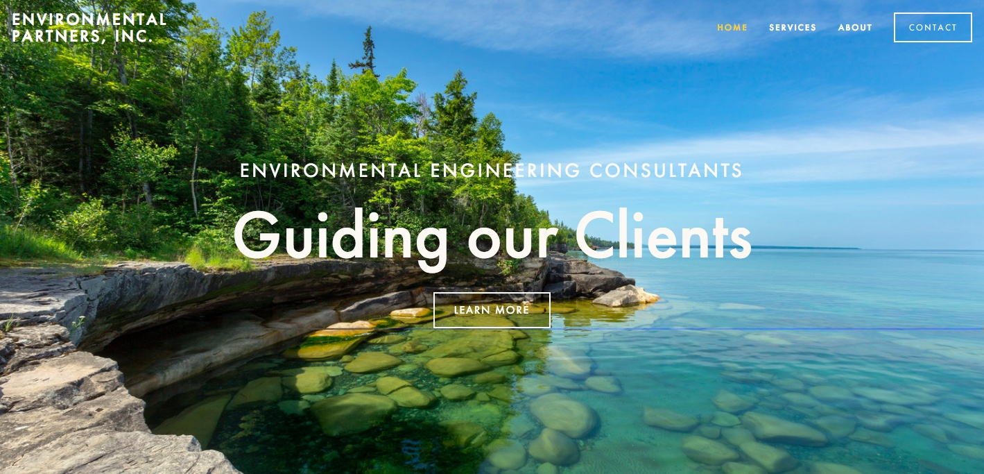 Environmental Partners, Inc.     Website Design, Content, SEM, and SEO