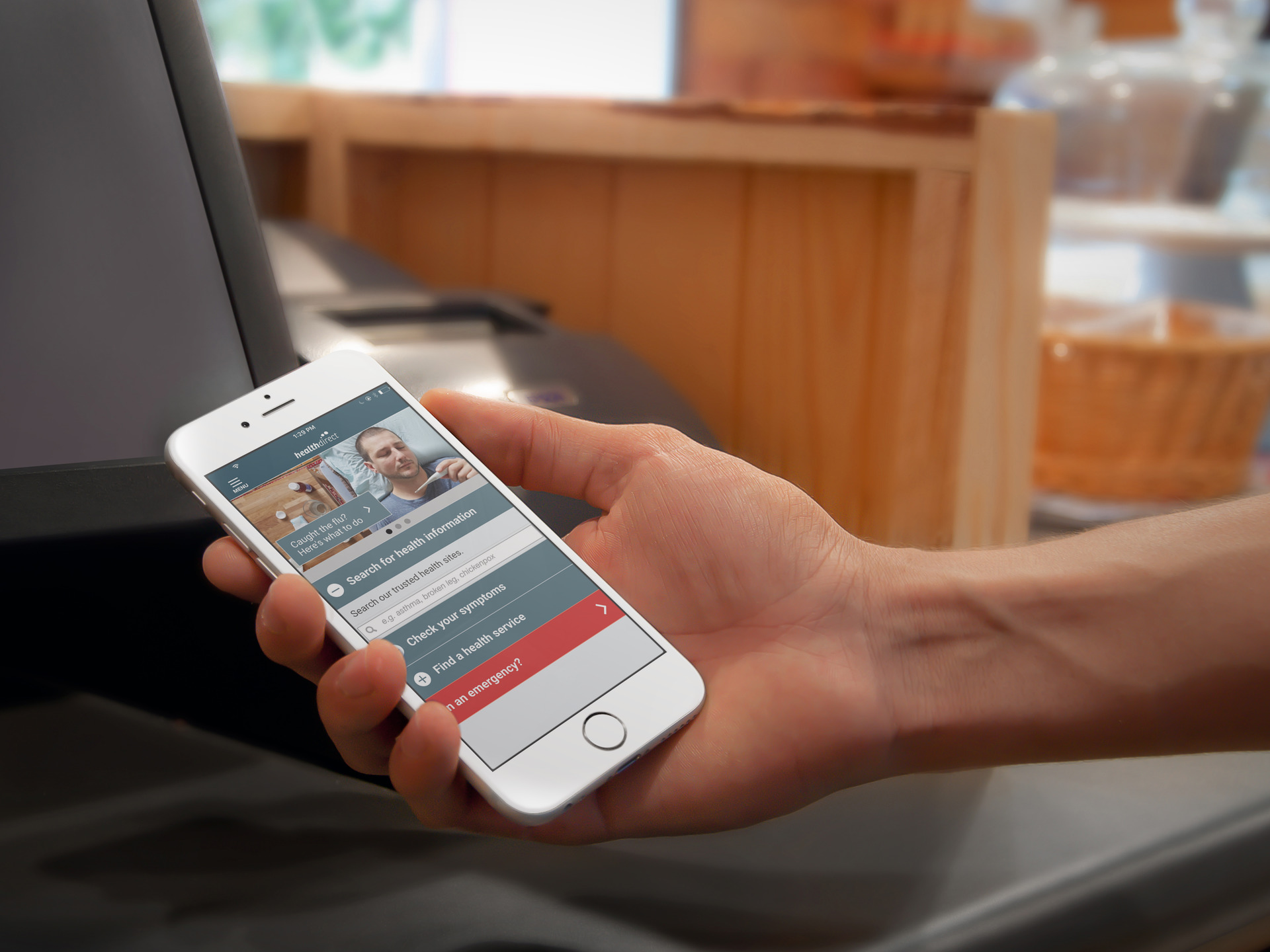 user viewing the healthdirect app