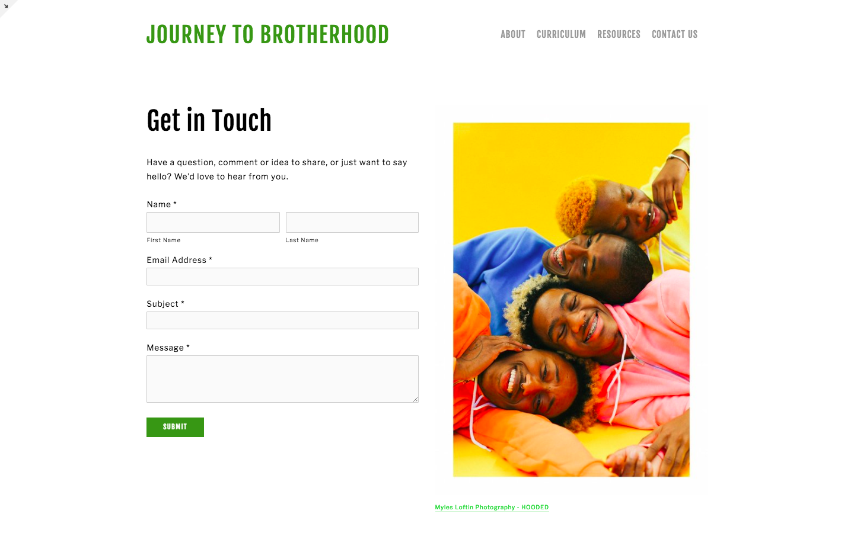 Journey to Brotherhood   curriculum for Black boys
