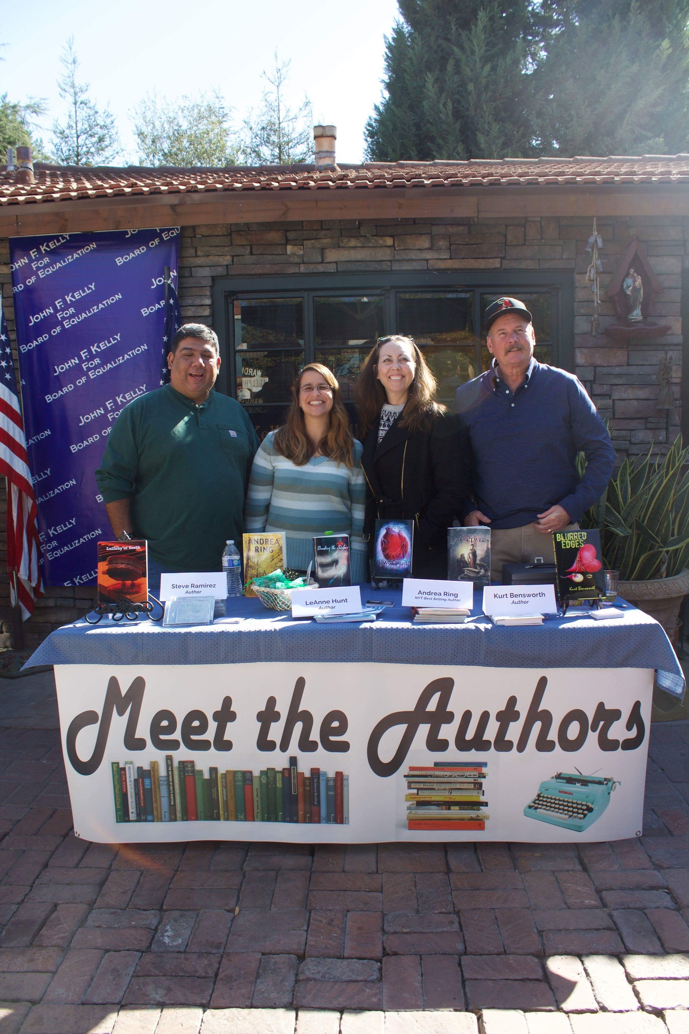 From the box set promotional event last Saturday. (L-R, Steve Ramirez, me, Andrea Ring, and Kurt Bensworth). My co-author Kristin Beckley and Peter Jessup, who has two books is in the e-book box set, were both unable to attend. Thank you, everyone, who was able to make it.