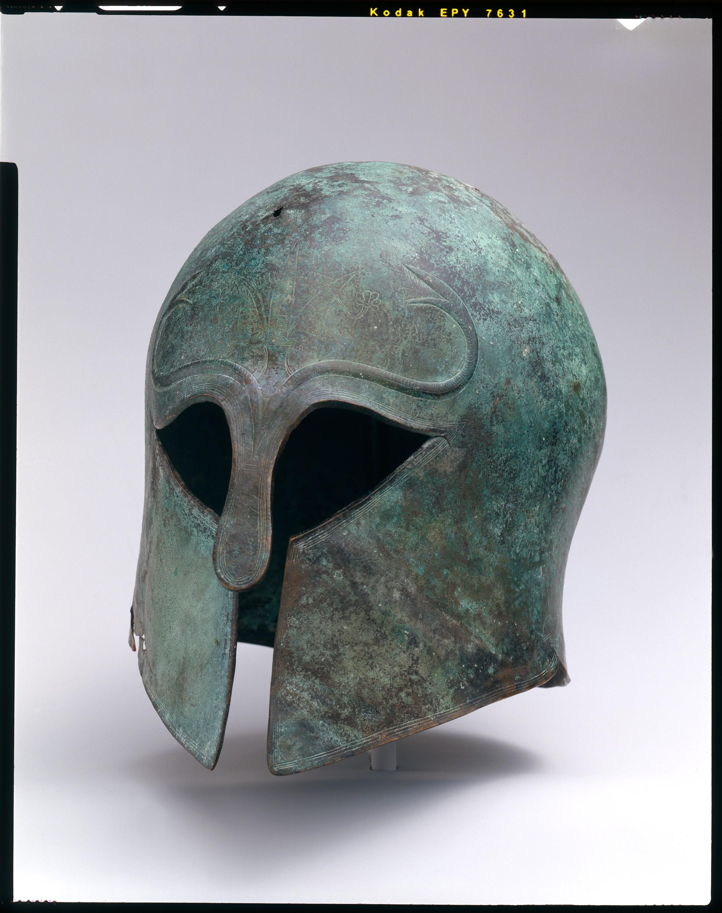 600-575 BC Century Bronze Corinthian Helmet - Metropolitan Museum