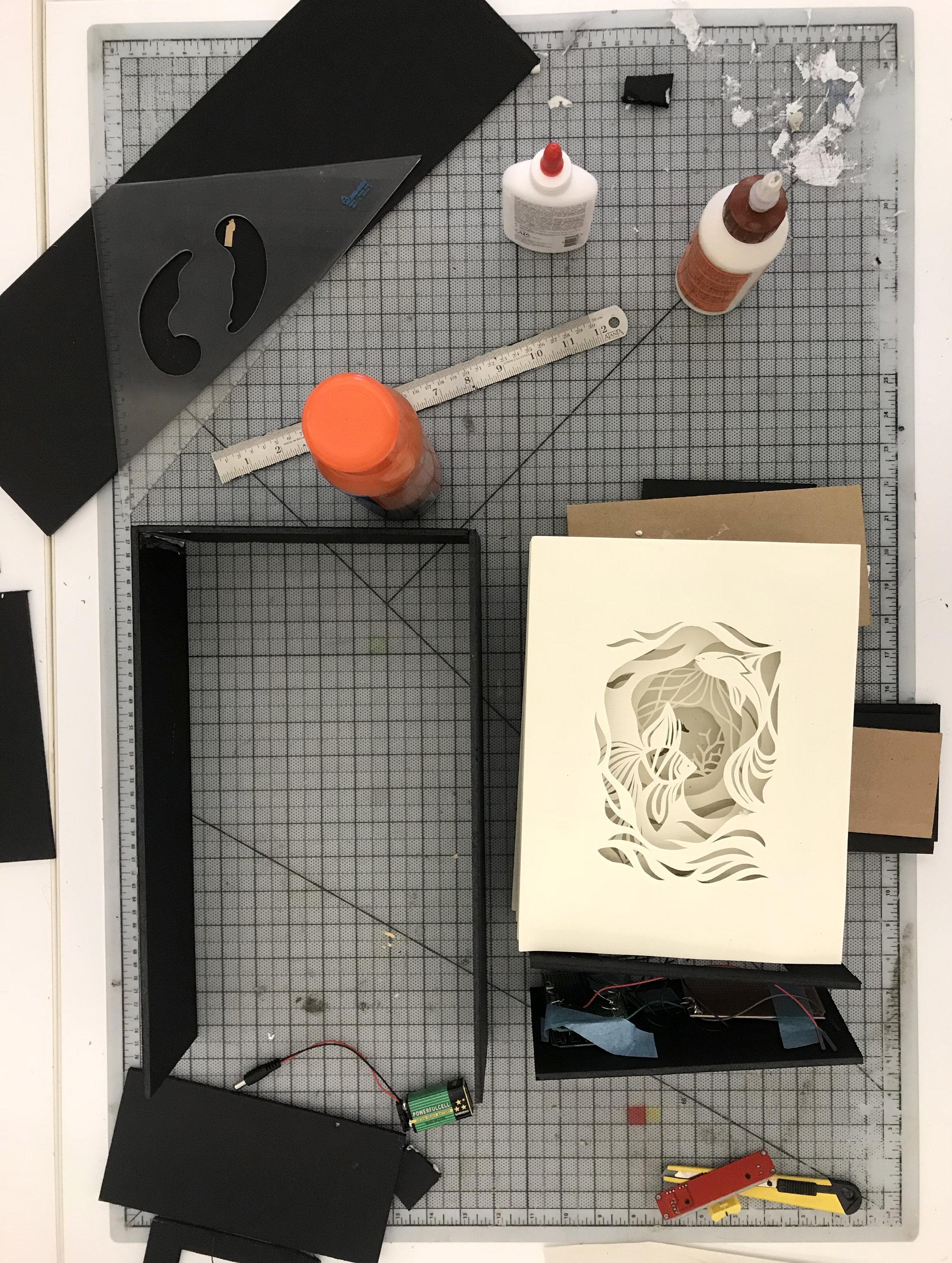 Shadow box making