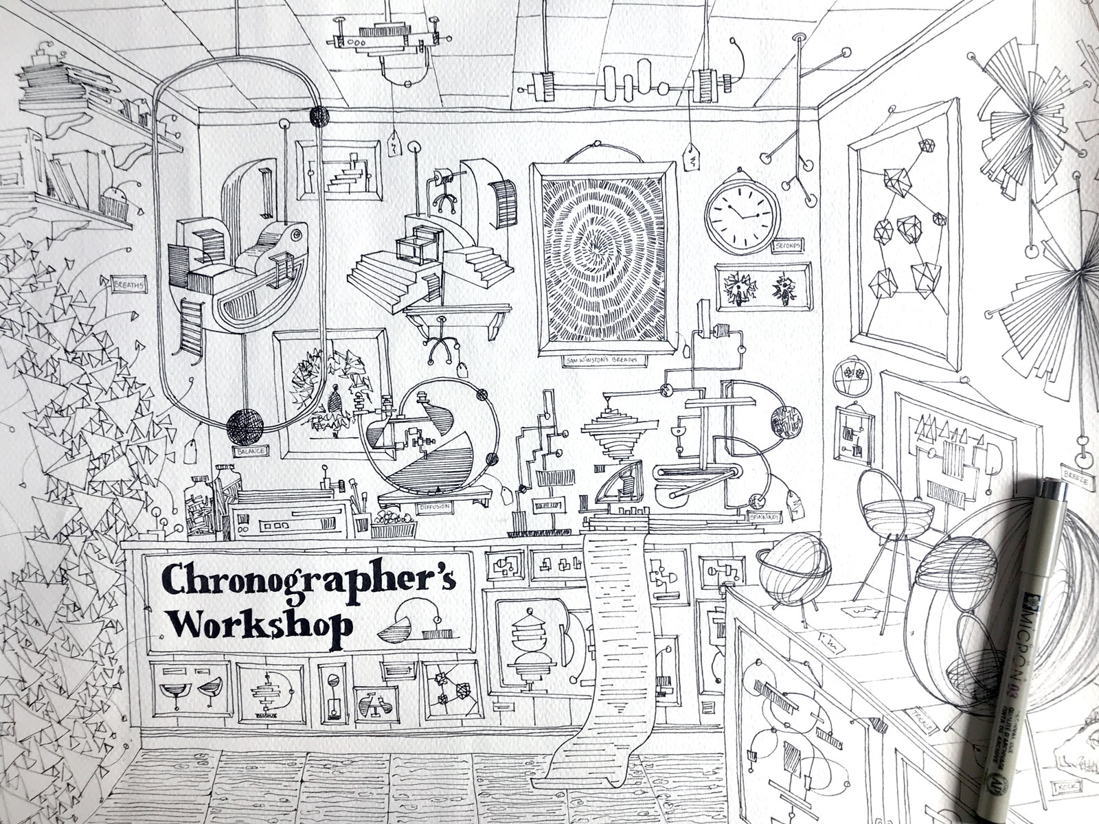 An early blueprint of the Chronographer's Workshop