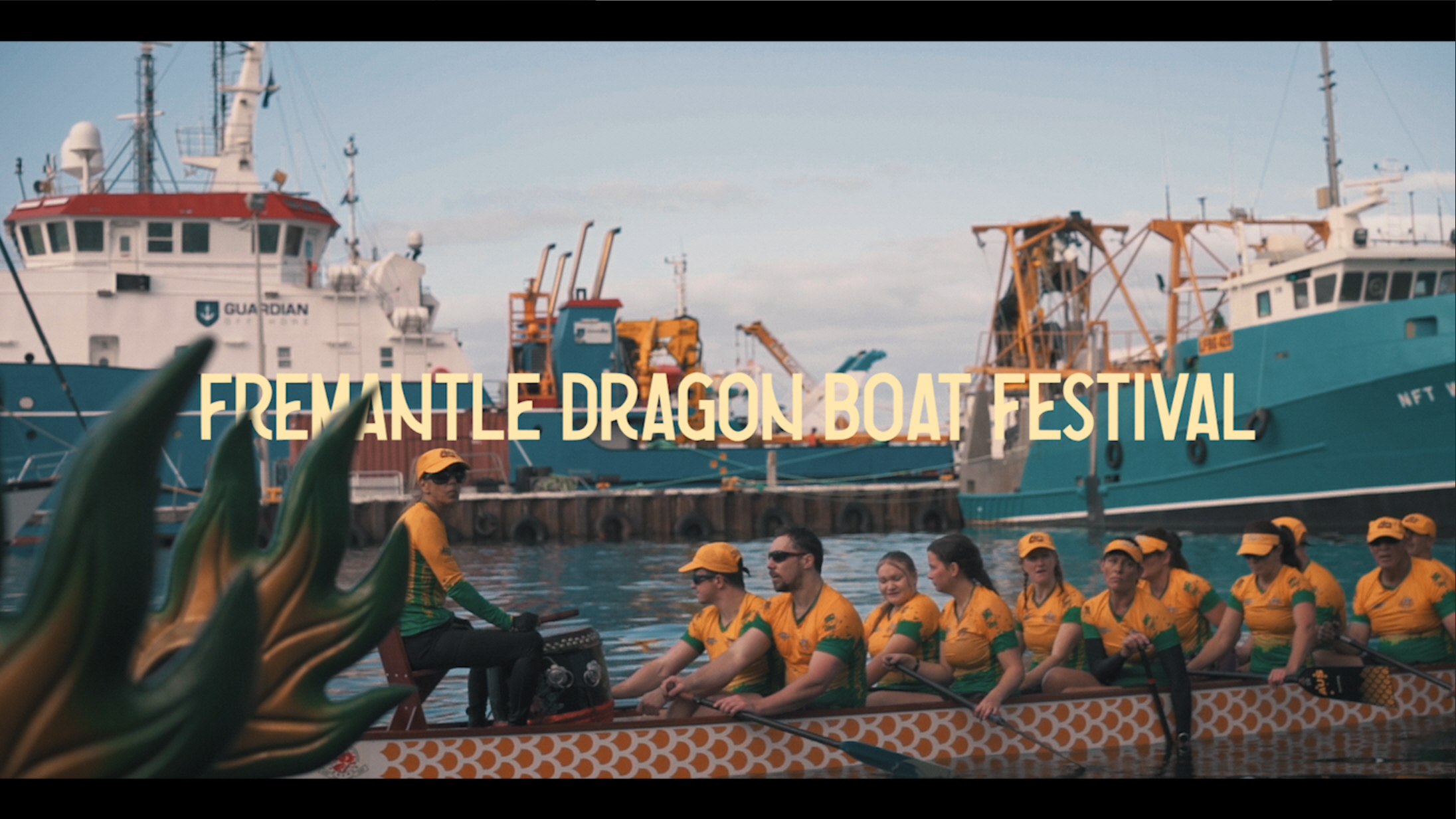 Fremantle Dragon Boat Festival 2019 - The first annual Fremantle Dragon Boat Festival, set in Western Australia's iconic Fremantle Boat Harbour.International level paddlers, cultural performances and Dragon Boating's rich history, the event was a true spectacle.