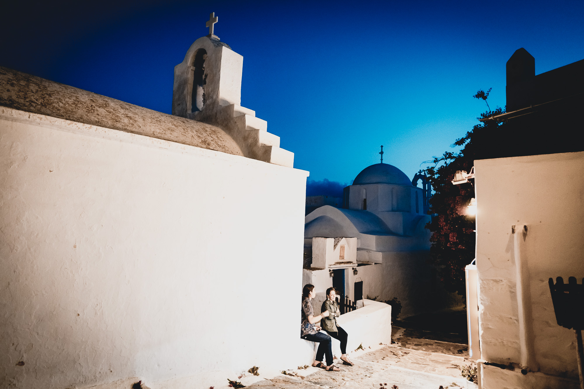 Night talk in Amorgos