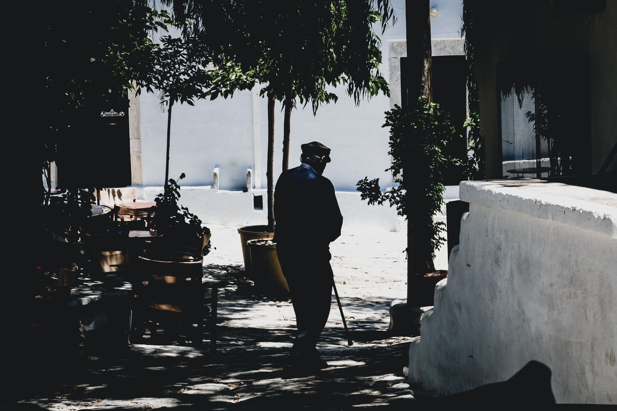 An old man in Amorgo's Chora