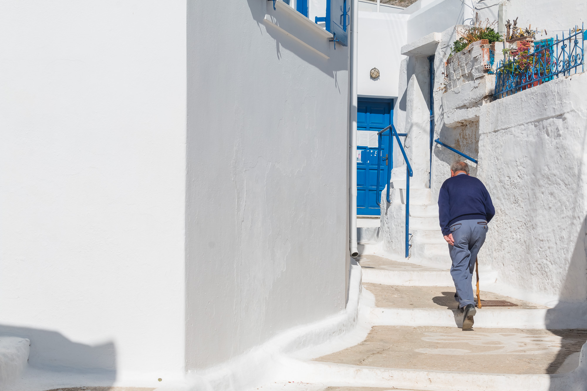 Uphill and downhill Amorgos