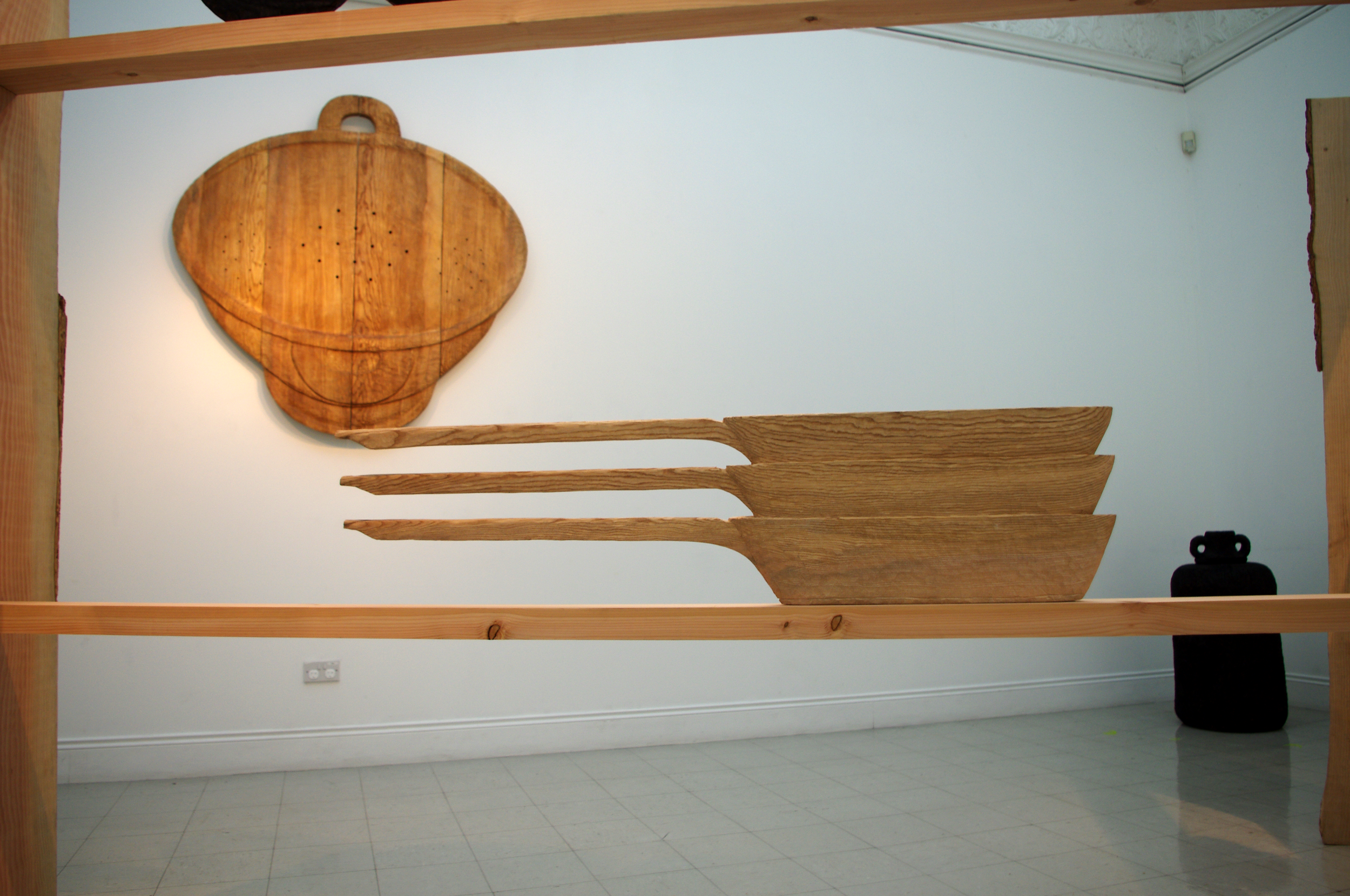 The Projected Kitchen | 2016  Carved and constructed wood Installation - sizes variable