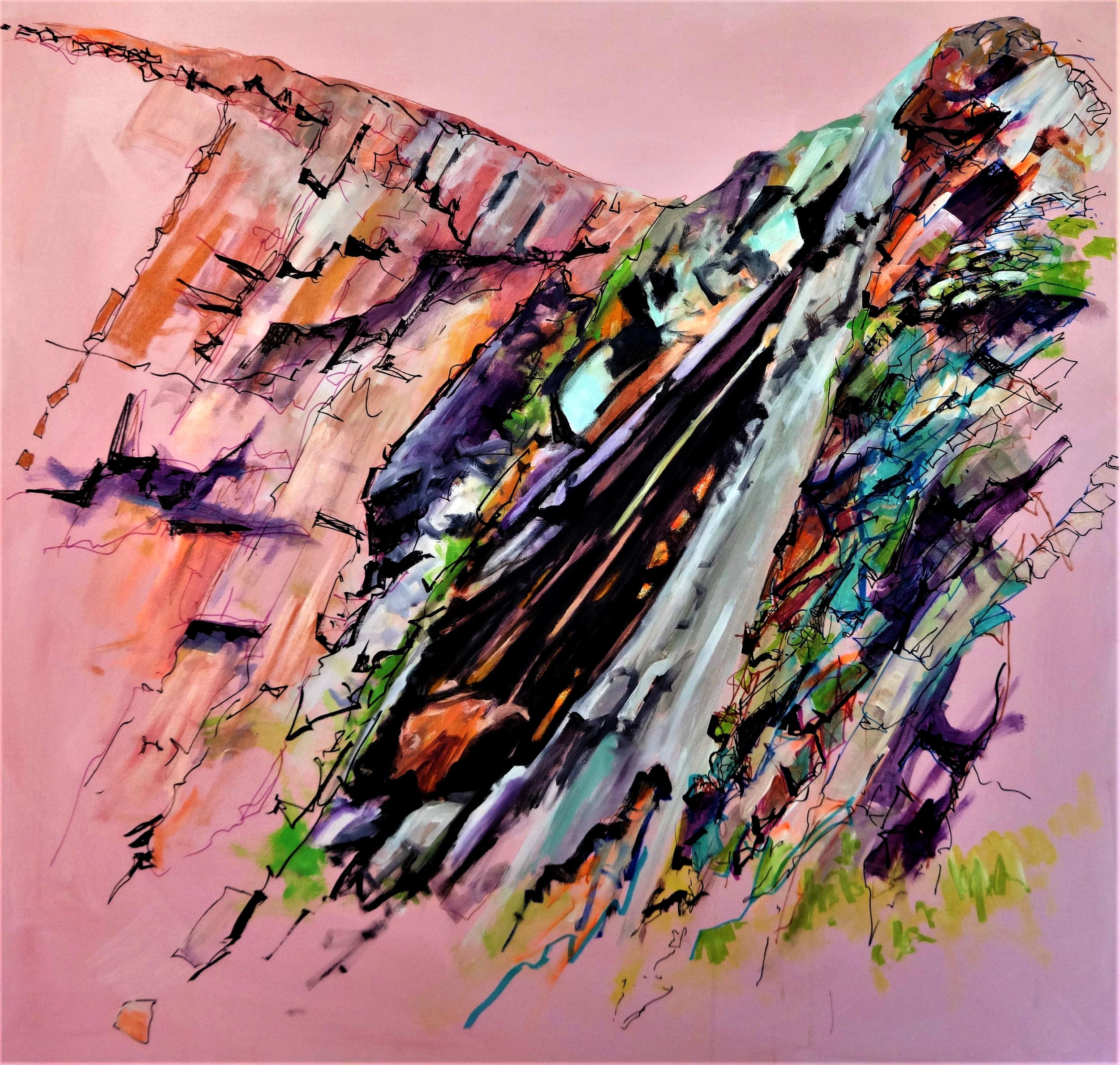 Abereiddi Blue Lagoon | 2016 Mixed media on canvas 97 x 91 cm