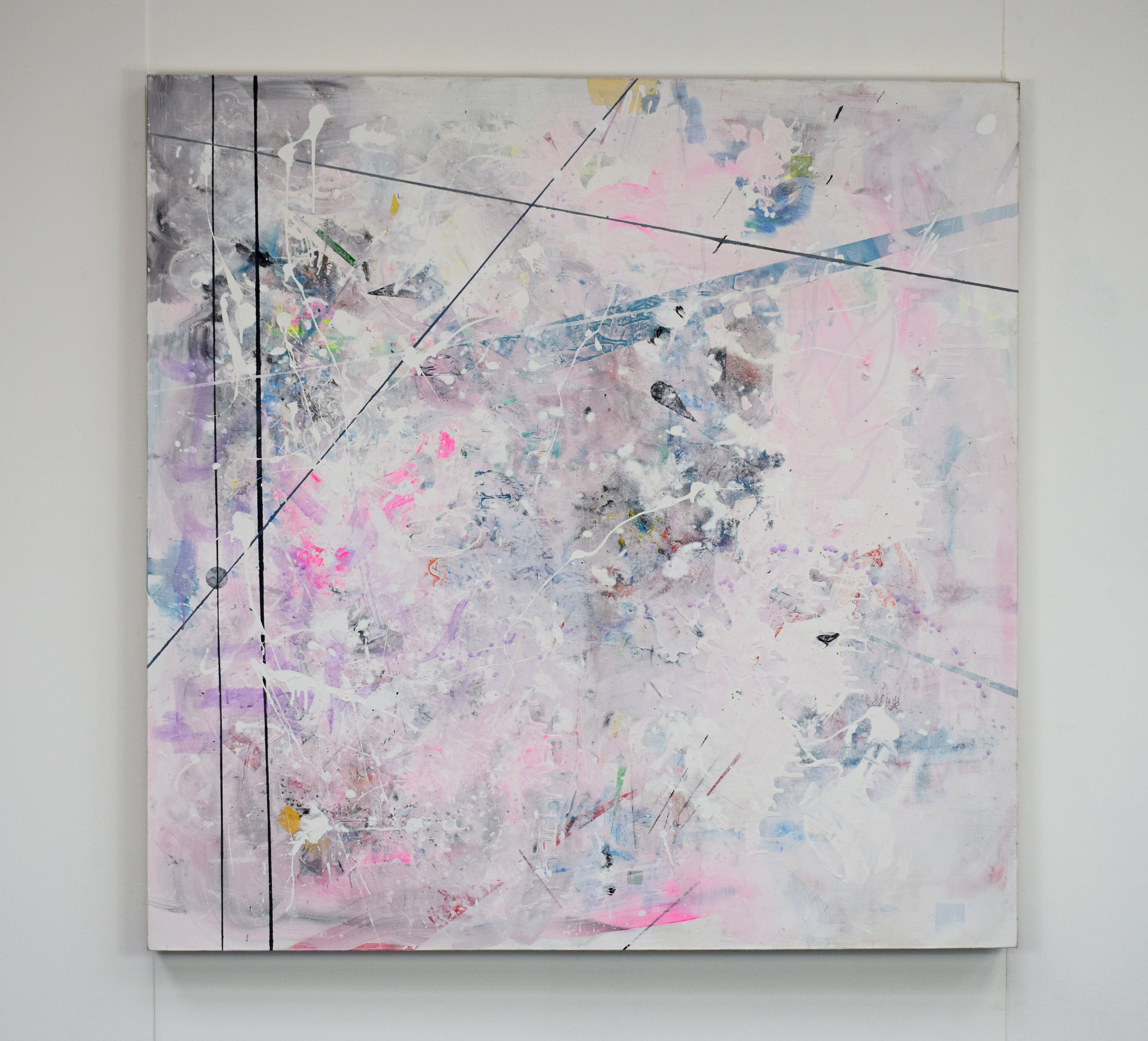 Layered Spaces #1 | 2018 Acrylic and oil on canvas 4ft x 4ft