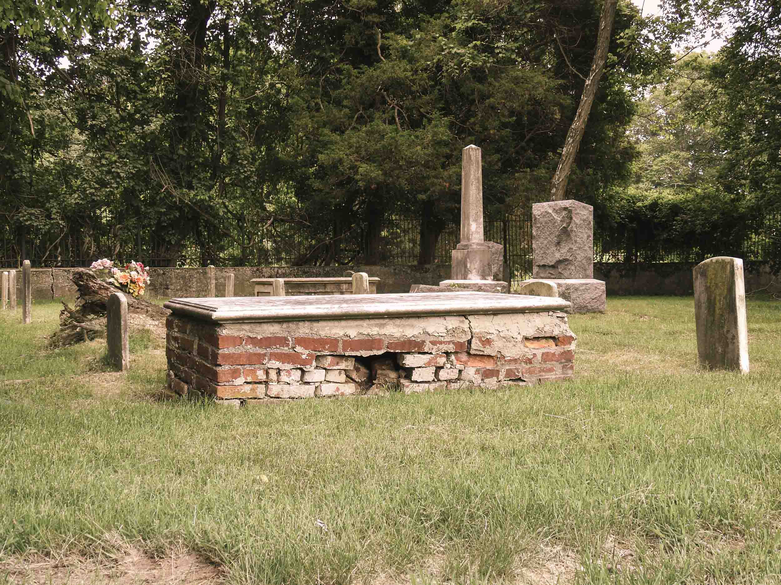 Photo of Old Grave Markers at Resurrection Cemetery Rose Anderson, May 2018
