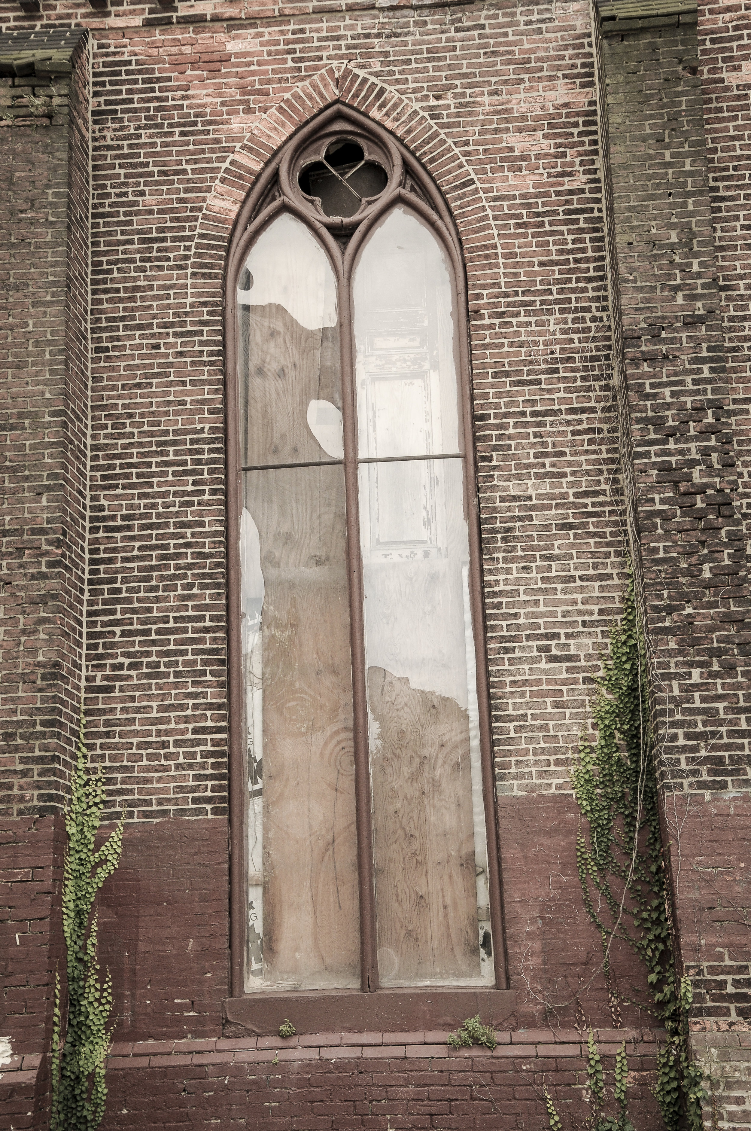 Window of an old church in Baltimore Photo: Rose Anderson, August 2018