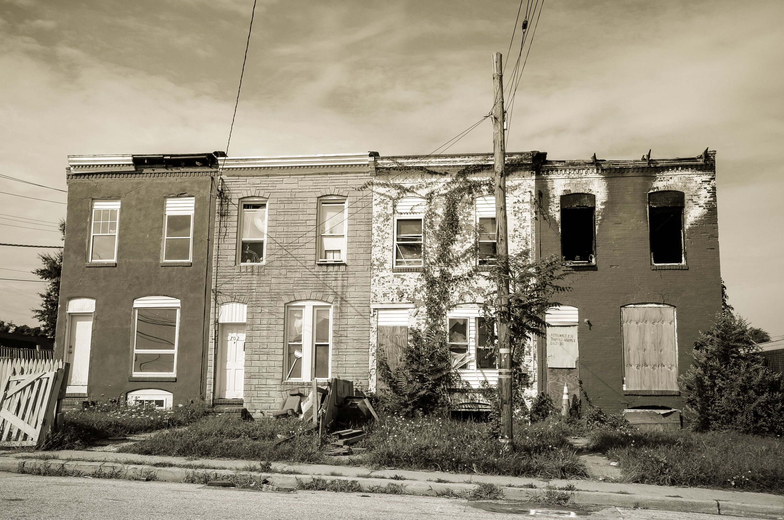 Baltimore Row Houses Photo: Rose Anderson, August 2018
