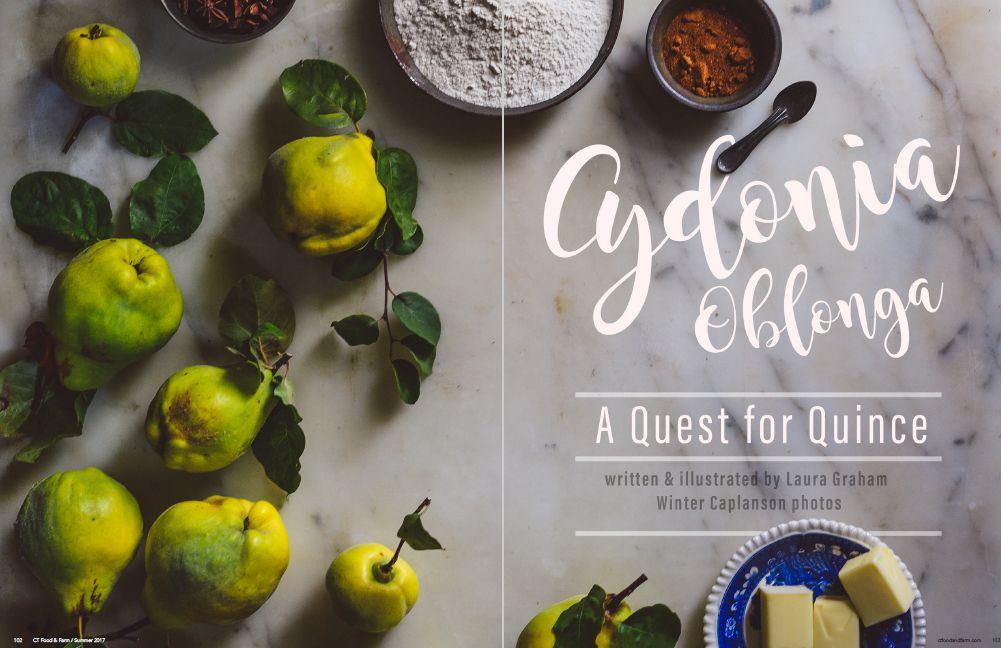 Connecticut Food & Farm Magazine, Summer 2017, Volume 9 - Cydonia Oblonga