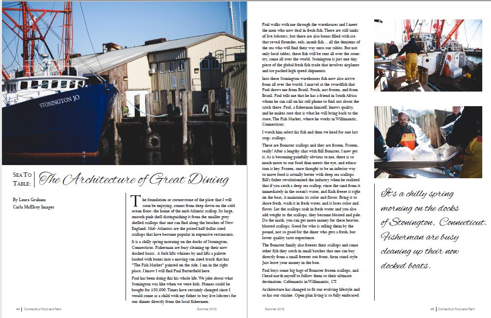 Connecticut Food & Farm, Summer 2015, Issue 1 - Sea to Table: The Architecture of Great Dining