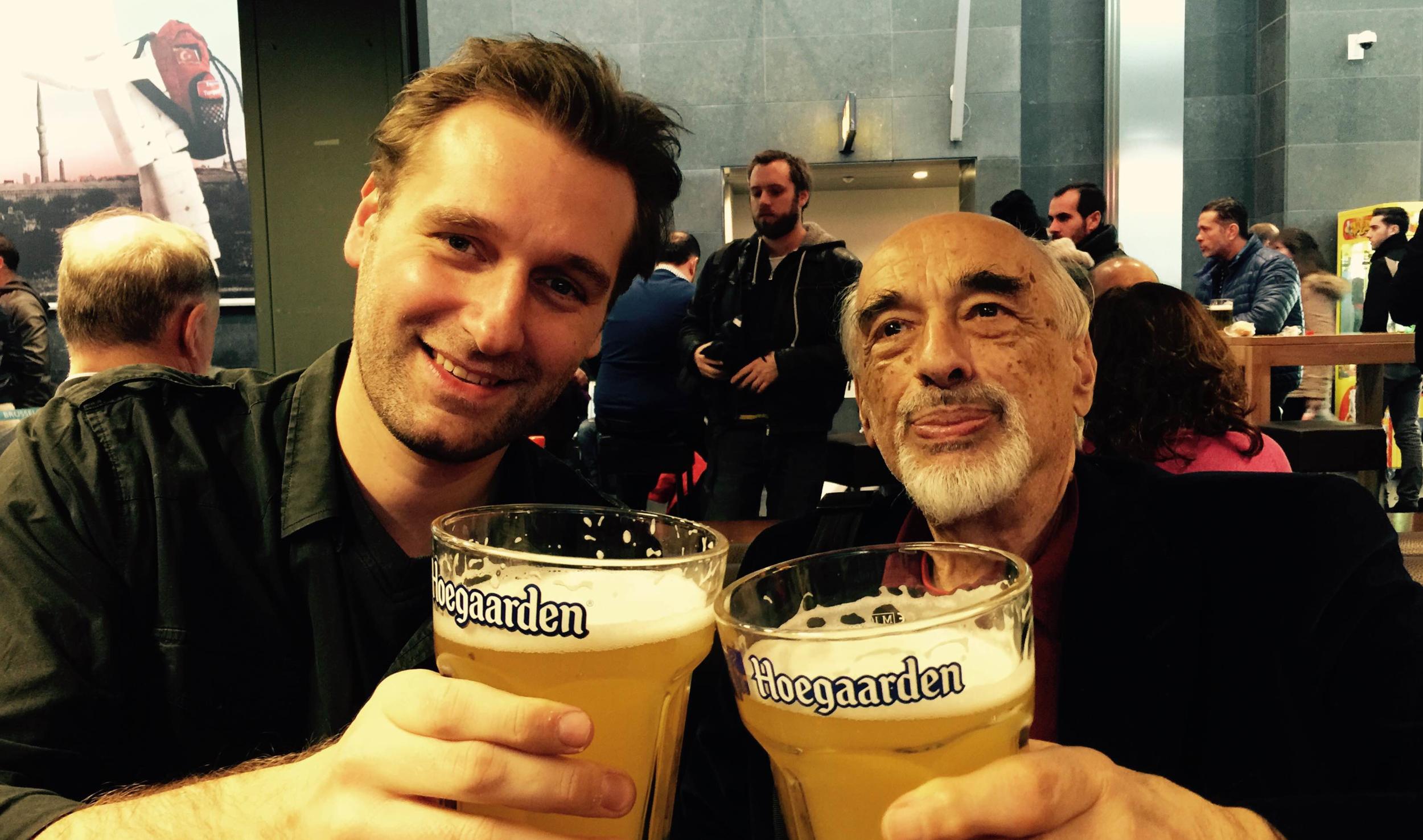 A Belgian beer with Maestro Dimitri Bashkirov after the CFIPC 2014!  © Kirill Bashkirov