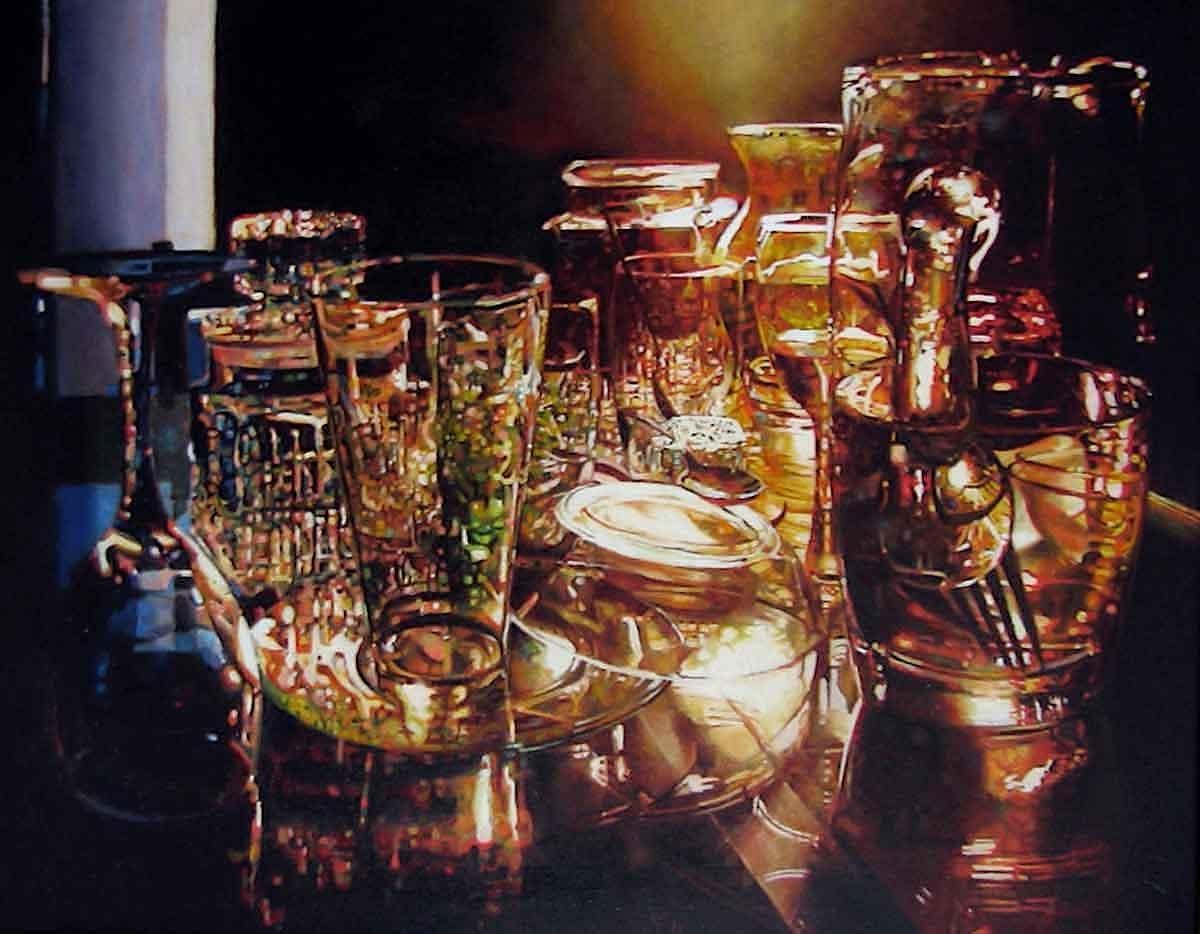 Golden Spectrum , oil on canvas, 46x34in, 2006