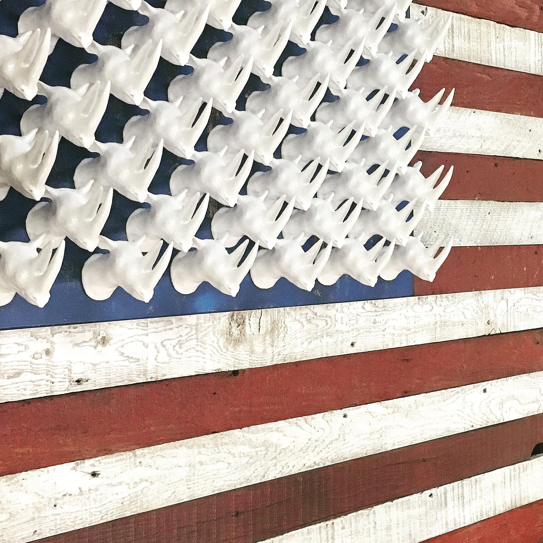 """Rhino American Flag 42"""" x 80"""""""
