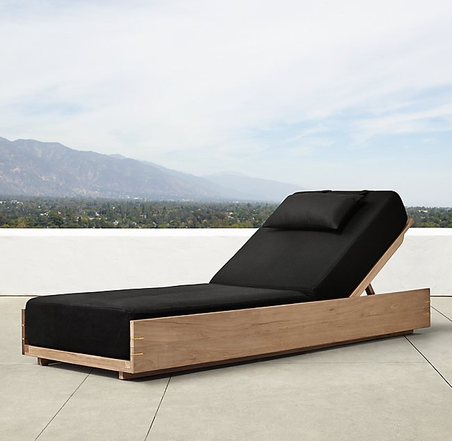 These modern lounge chairs will elevate any outdoor space and they are made out of teak wood which is naturally durable and impervious to sun, rain, frost and snow guaranteed to last you a lifetime.    PAROS CHAISE