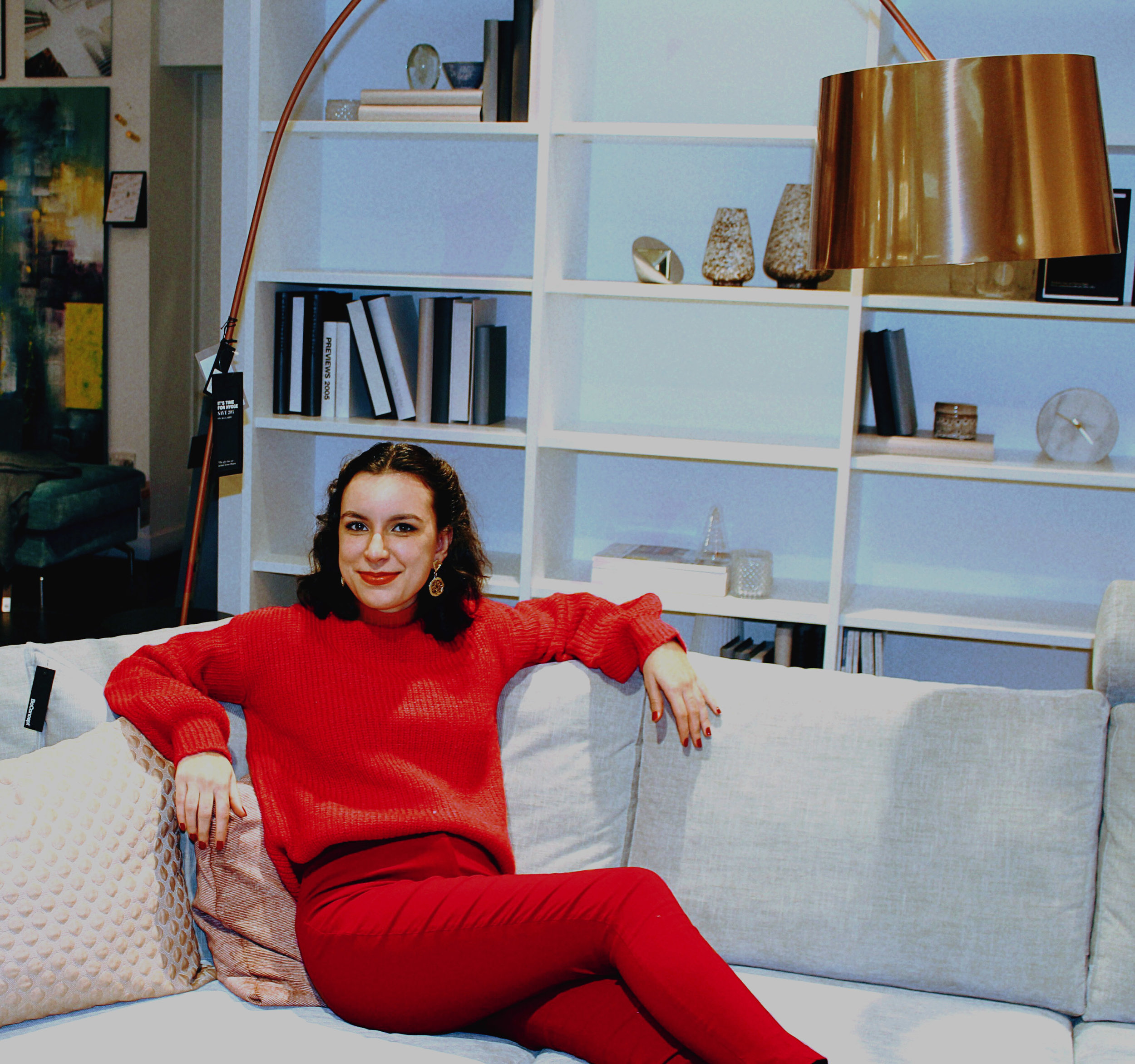 Red Fashion Union Jumper Asos High Waisted Trousers Rhoyally Chic UK style blogger