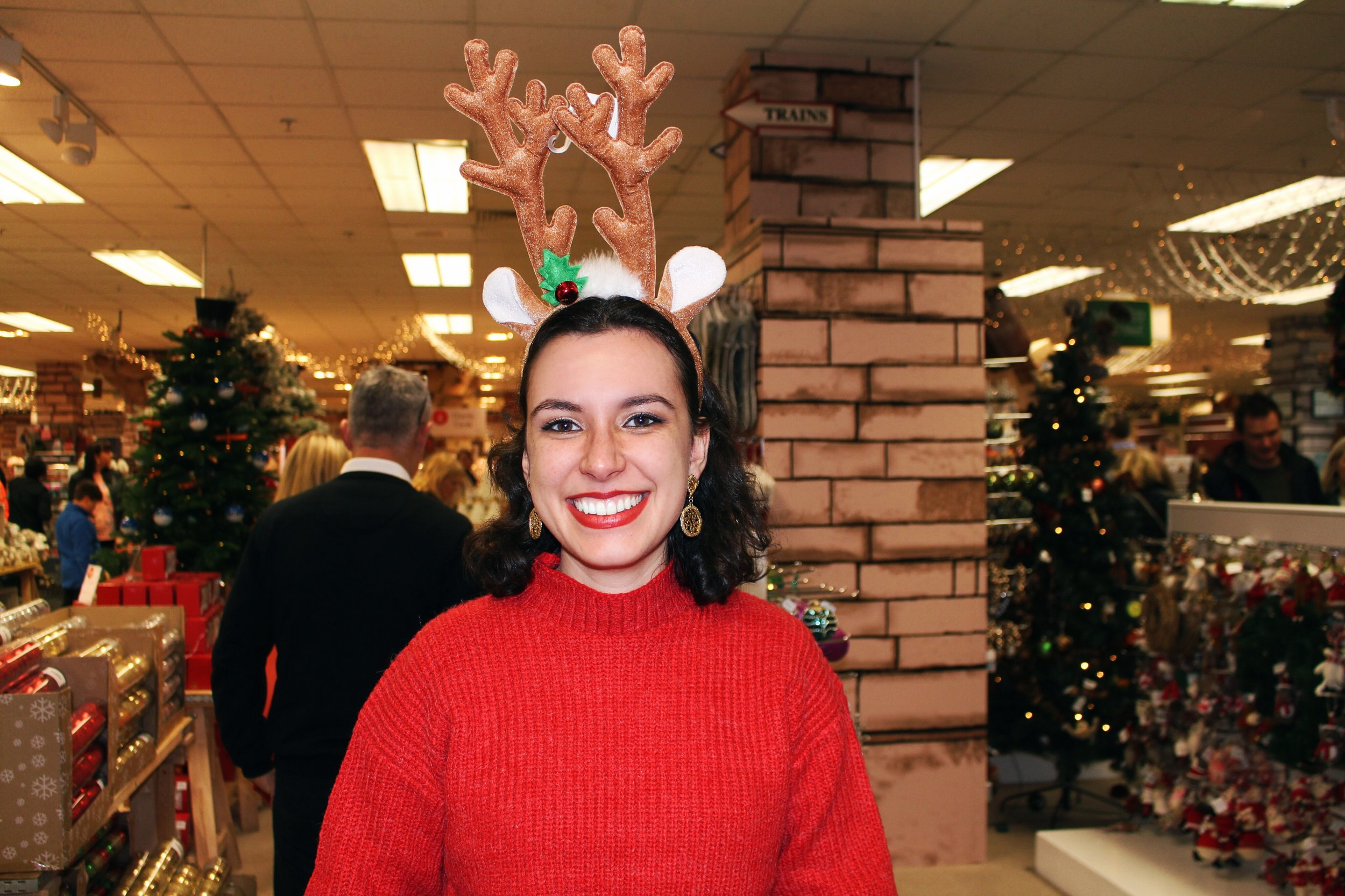 Reindeer Antlers Fenwick Department Store Newcastle Christmas Rhoyally Chic UK Style Blogger
