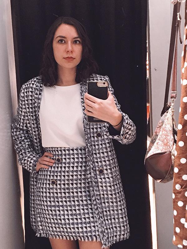 Mango tweed suit for Spring