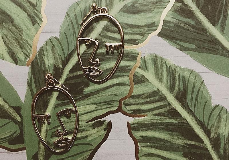 Ebay Doodle Trend Face Earrings