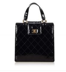 Secondhand Chanel Black Matelasse Patent leather bag