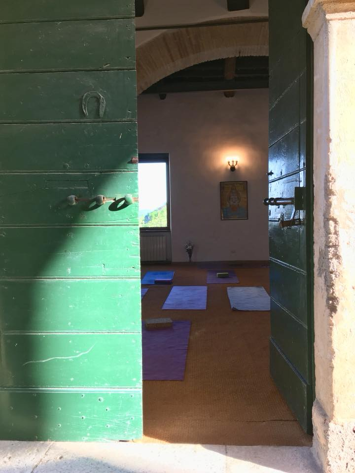 Our yoga studio - a converted stable in the Palazzo.