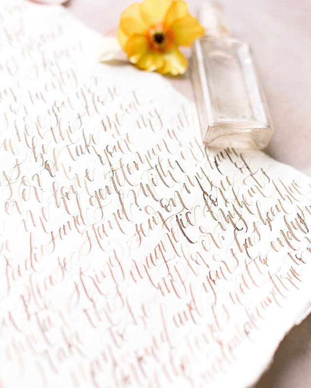 The words you speak as your vows on your wedding day are some of the most important words you will say in your lifetime. Cherish them, hold onto them, remember them, & pass them down through your family's generations to come as a rock and foundation of your family. ✍🏻 // Photo by @jenk.photo . . . .  #weddingvows#weddingphotography #jenkcalligraphy  #mykentuckybride  #weddinginvitations #cincinnati #weddingstationery #kentuckywedding #chicagowedding #ohiowedding #moderncalligraphy #engaged #weddingideas #weddinginspiration #calligraphy #theeverygirl #southernwedding #carolinawedding #weddingdetails #weddingcalligraphy #envelopecalligraphy #loveintentionally #texaswedding #fineartwedding #weddingplanning #pursuepretty #bridetrends #huffpostweddings #southernblogger #bridetobe