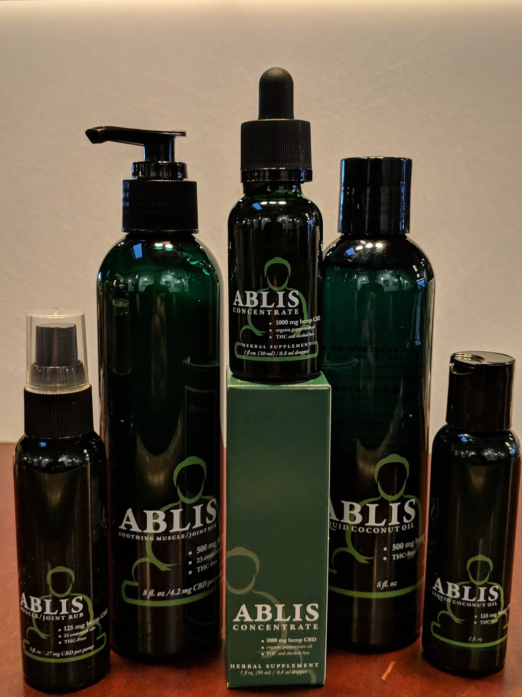We proudly use and sell Ablis CBD products.