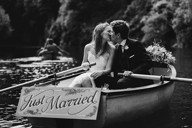 One of the best bits of the wedding day, just messing about in boats! Thanks so much to @abirileyphotography for capturing this beautiful moment, we cannot wait to see the rest of your wonderful photos! 😊 Thanks to all our other suppliers for making the day so perfect! @rachelbostonjewellery @cornishtipis @mossbros @kerrascatering @cornishrocktors @bhldn @georgemackayflowers