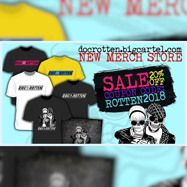 SALE!!!! Go to our merch store and use coupon code ROTTEN2018 and save 20% on shirts and CD's. #punk #rock #music #docrotten #blackfriday #sale