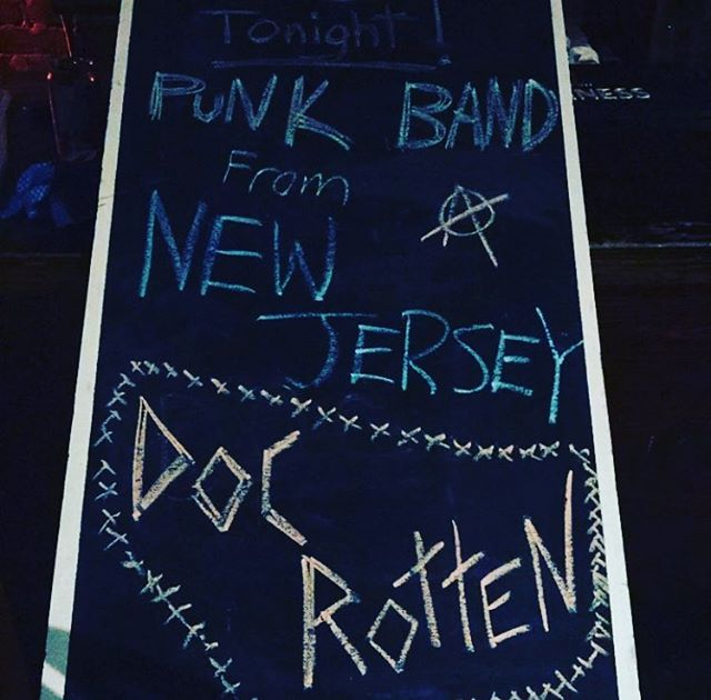 We're at #crobar in #montreal and it's fucking cold!!!! Come in and get warm. And hammered! #northamerica #tour #2018 #canada #punk #rock #music #docrotten